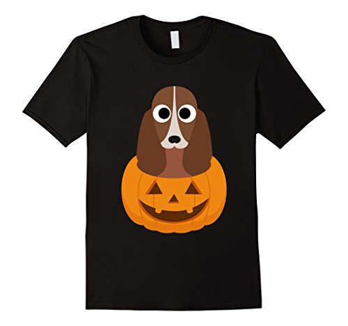 Mens Halloween costume gifts Basset Hound dog lover t shirt XL Black -