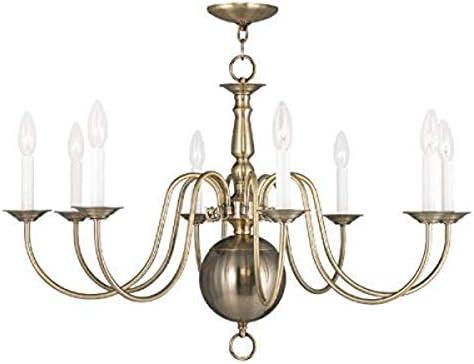 Livex Lighting 5007-01 Williamsburg 8-Light Chandelier