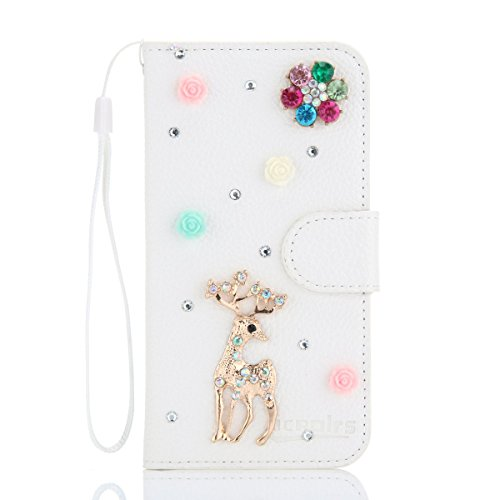 (Huawei Ascend Mate 2 Case,[ Shock Absorbent ] Protects PU Leather Kickstand Wallet Cover Durable Flip Case for Huawei Ascend Mate 2 Deer)