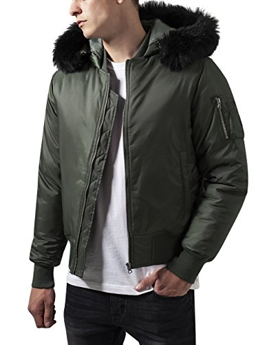 Hooded Classics Grün Chaqueta Olive Urban Basic Hombre para Bomber 176 Jacket 56xRw