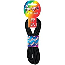 Pepperell 4mm Bunjee Cord, 15-Feet, Black