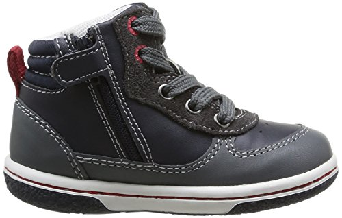 Geox B Flick Boy B - Zapatillas Bebé-Niños Dark Navy/Dark Grey