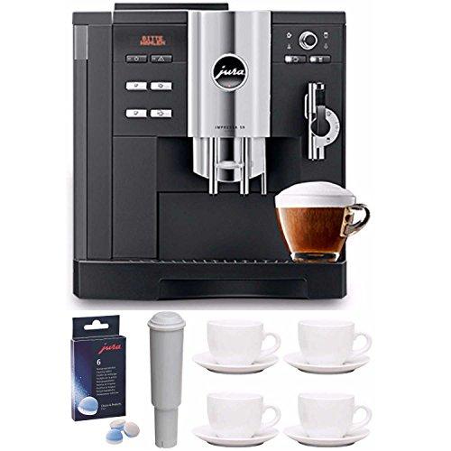 Jura Impressa S9 Classic One Touch Cappucino Espresso Coffee Machine with Accessory Bundle (Grinder Coffee Tiara)