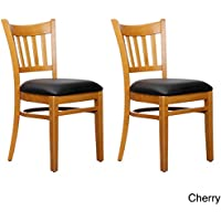 Beechwood Mountain BSD-4S-C Solid Beech Wood Side Chairs in Cherry for Kitchen and dining, set of 2