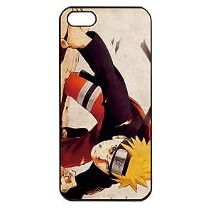 Naruto Manga Anime Comic Uzumaki Naruto Apple iPhone 5 TPU Soft Black or White case (Black)