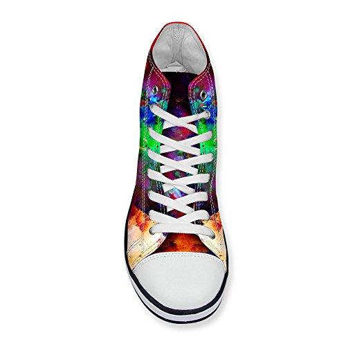 ThiKin スニーカー キャンバス メンズ 帆布 星空 柄 カジュアル 靴 シューズ 3Dプリント 個性的 軽量 通気 おしゃれ ファッション 通勤 通学 プレゼント 動物柄 9色