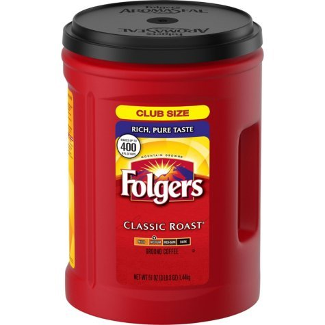 Folgers Classic Roast Coffee, 48 Ounce (1 Container)