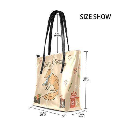 Handbags Large Women's Top Handle Tote Bags Bennigiry Purse Fox Christmas Satchel Shoulder w0nOYdqpB