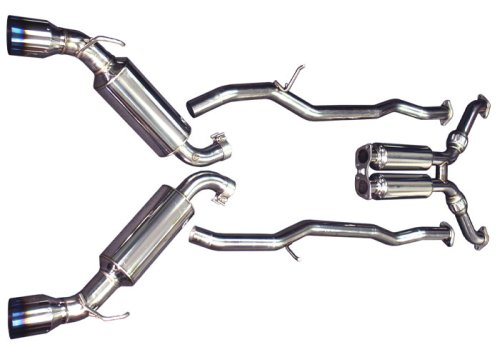 (Injen Technology SES1986TT Stainless Steel Exhaust System with Titainum Tips)