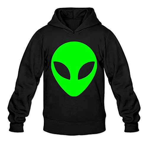 dvphq-mens-classic-green-alien-head-cartoon-hooded-sweatshirt-size-m-black