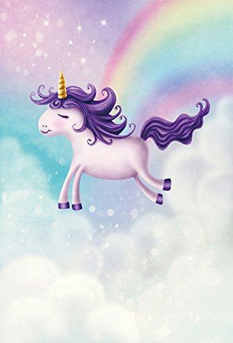 amazon com laeacco cute little unicorn background 3x5ft cartoon
