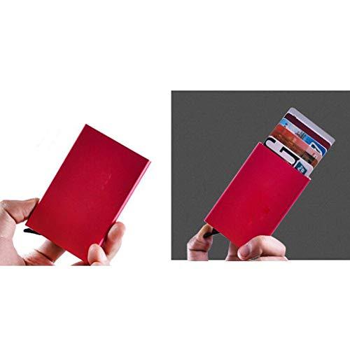 De Blue Inoxydable Hommes Crédit Acier color Femmes 6 Pour Métal Anti démagnétisation 6 Rfid Porte Hommes Taille En cartes 3cm Red 9 05OqO1