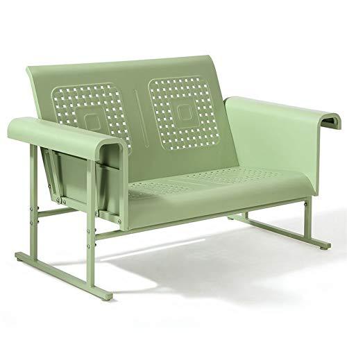 - Crosley Furniture Veranda Patio Gliding Loveseat in Oasis Green