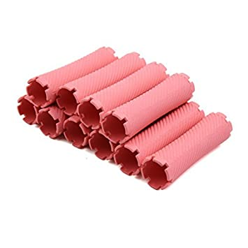 eDealMax 10pcs Pink Shell Duro Bangs Hair Styling herramientas de bricolaje Mujeres mismo sosteniendo Rizador