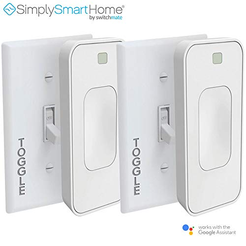 2-Pack SimplySmartHome Motion Activated Instant Smart Light Switch Toggle That Listens 3 (White) - (Renewed)