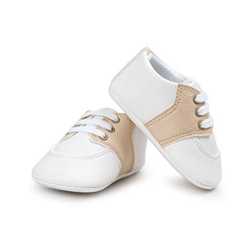 Baby Boys Toddler Leather Crib Shoes Sneaker Khaki - 4