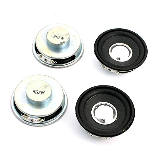 Aexit 4 Pcs 50mm 3W 8 Ohm Internal Magnetic Full Range Car Speaker Amplifier by Aexit