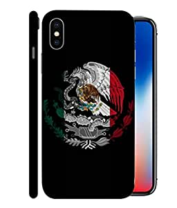 ColorKing Football Mexico 09 Black shell case cover for Apple iphone X
