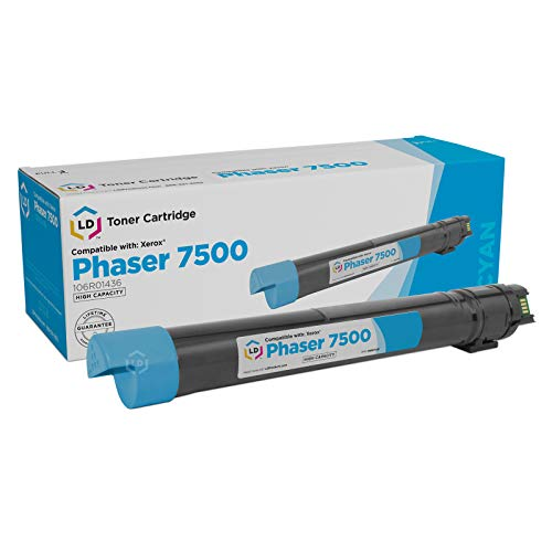 LD Remanufactured Toner Cartridge Replacement for Xerox Phaser 7500 106R1436 High Yield (Cyan)