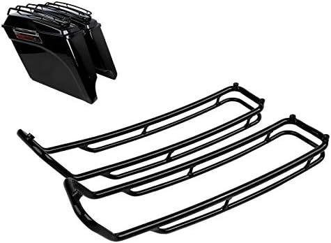 Seitenkoffer Top Reling Kompatibel Für Harley Davidson Touring 93 13 Schwarz Auto