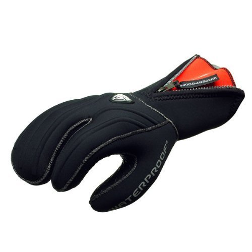 (New Tusa Waterproof 7mm 3-Finger Stretch Neoprene Semi-Dry Gloves (Medium))