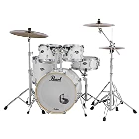 Pearl EXX705N/C33 Export 5 Pieces Drum Set with 830-Series Hardware Pack, Pure White 7