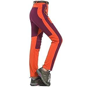 Womens Waterproof Pants Soft Shell Tactical Pants Outdoor Winter Warm Fleece Trousers