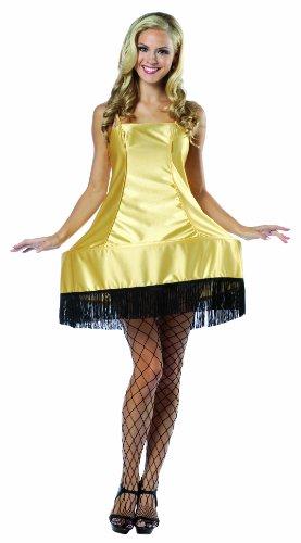 [Rasta Imposta A Christmas Story Leg Lamp Dress Costume, Gold, One Size] (Leg Lamp Dress Costume)