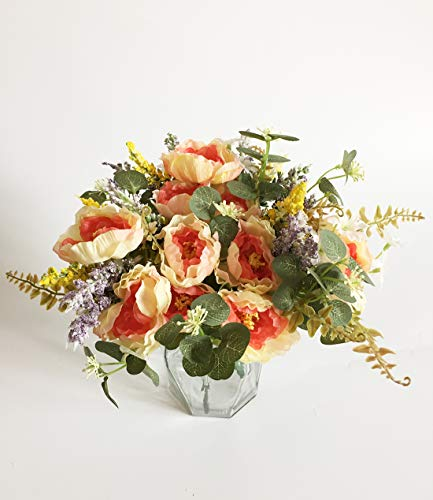Artfen-3-Bouquet-Country-Style-Artificial-Tea-Rose-Fake-Camellia-Lu-Lotus-Flower-Bouquet-Party-Home-Decor-Approx-115-High-Champagne