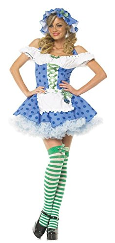 Blueberry Muffin Adult Costume (Blueberry Muffin Girl Adult Costume - Small)