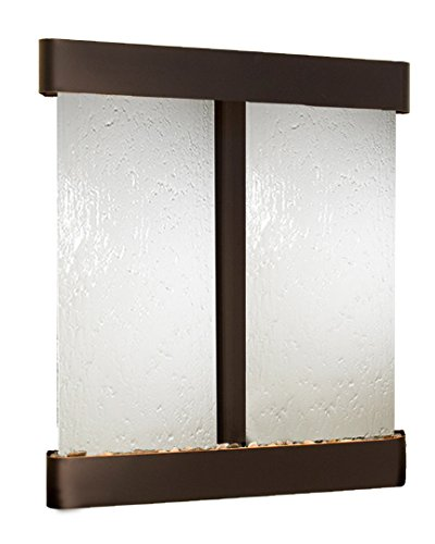 - Cottonwood Falls Water Feature with Blackened Copper Trim and Round Edges (Silver Mirror)