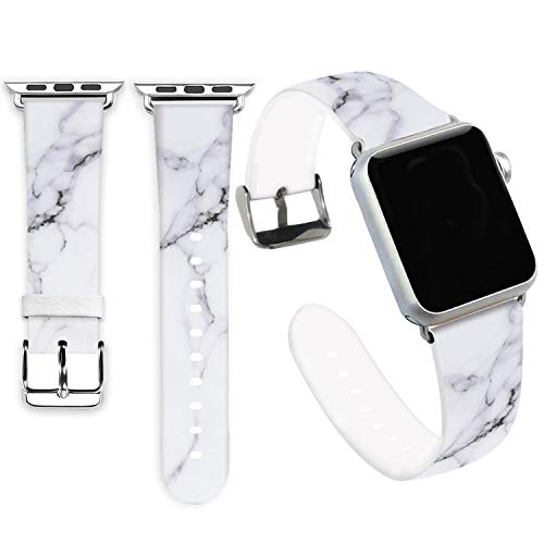 Marble Bands for Apple Watch 38mm,Jolook Soft Leather Sport Style Replacement iWatch Band Strap for Apple Watch 40mm Series 4 Series 1/2/3 38mm- Marble Pattern