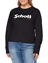 Schott SWGINGER1W Sudadera, Negro (Black 90), 44(Talladelfabricante:XL) para Mujer