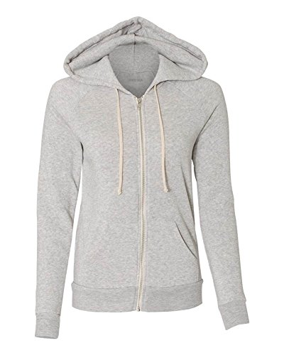 - Joe's USA Women's Eco-Fleece Hooded Full-Zip Sweatshirt-M-EcoOatmeal