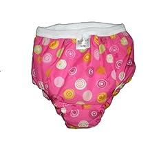 Kushies Taffeta Waterproof Training Pants, Small, Crazy Circles Pink by Kushies