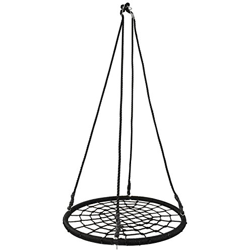 ZENY 40'' Kids Spider Web Tree Net Swing Round Spider Net Swing Platform Set with Adjustable Hanging Ropes Kits,Strong to Hold 600 lbs,Great for Tree,Playground,Playroom,Backyard (40'' Swing) by ZENY