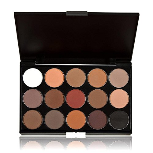 ABASSKY 15 Colors Cosmetic Makeup Neutral Nudes Warm Eyeshad