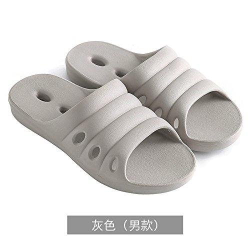 YMFIE Zapatillas de baño antideslizantes para mujer, suela de espuma suave para piscina, zapatos gris