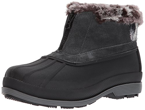 Propet Women's Lumi Ankle Zip Snow Boot, Grey, 8.5 M US