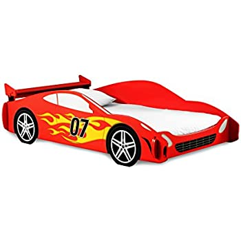legar kids furniture race car series collection no tools assembly twin bed red