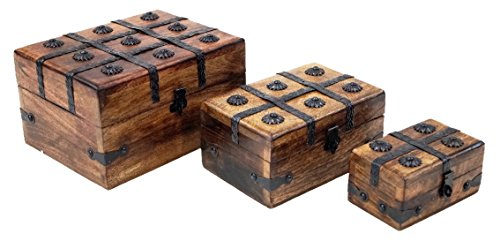 Figurine Set Chest (SAILORS SPECIAL SH2335 Chest Christmas & Thanks Giving Nested Pirate Chest Fetching & Long-Lasting Home Decor (Set of 3))