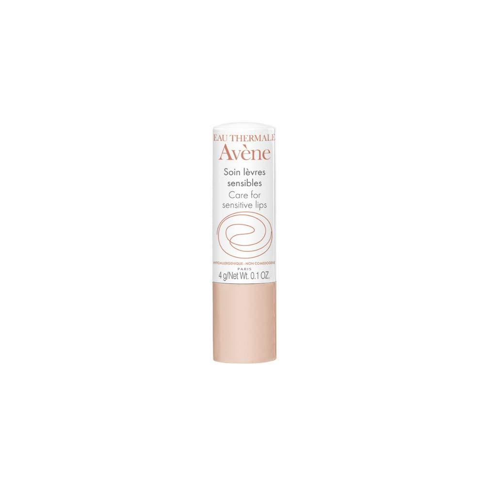 Eau Thermale Avene Care for Sensitive Lips Moisturizing Lip Balm with Shea Butter, Beeswax, 0.1 oz.