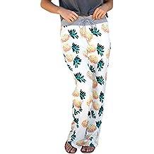 ABCWOO Womens Floral Print Palazzo Pants Comfy High Waist Slacks