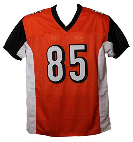 Chad Johnson Autographed Cincinnati Bengals XL Orange Ochocinco Jersey BAS