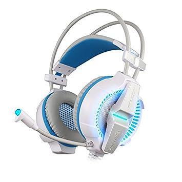 KOTION EACH G7000 Profesional Auriculares de Juegos con LED Retroiluminado y Micrófono USB 7.1 Rodear Sonidos