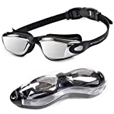 HUBO SPORTS Swim Goggles,Swimming Goggles for Women Men Kids,Competition Swim Goggles of No Leaking Anti Fog UV 400 Protection Clear Vision Triathlon with Free Protection Case …