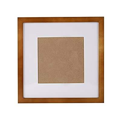 SUNNYPEAK Brown 10x10 inch Wood Picture Photo Poster Print Art Frame Made to Display Picture 7x7 inch with Mat or 10x10 inch Without Mat, Table Top and Wall Mounting Material Included - 1. Safety: The front of photo frame is a high transparent acrylic board(not glass), invulnerability to breakage. 2. Install Simplely and Quickly: Use unmarked nail to hang in a few seconds. Don't hurt the wall. 3. Good Material: The print frame is made of three layers of environmental protection paint, drying pine, Backboard is high density board. Moisture and not easy to deformation. - picture-frames, bedroom-decor, bedroom - 415eg3OcbPL. SS400  -