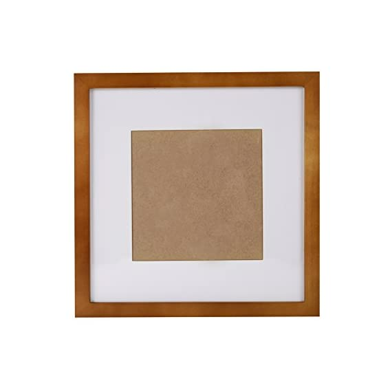 SUNNYPEAK Brown 10x10 inch Wood Picture Photo Poster Print Art Frame Made to Display Picture 7x7 inch with Mat or 10x10 inch Without Mat, Table Top and Wall Mounting Material Included - 1. Safety: The front of photo frame is a high transparent acrylic board(not glass), invulnerability to breakage. 2. Install Simplely and Quickly: Use unmarked nail to hang in a few seconds. Don't hurt the wall. 3. Good Material: The print frame is made of three layers of environmental protection paint, drying pine, Backboard is high density board. Moisture and not easy to deformation. - picture-frames, bedroom-decor, bedroom - 415eg3OcbPL. SS570  -