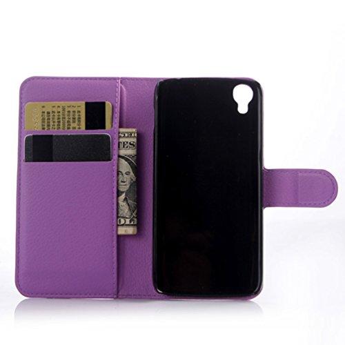 Manyip Funda Alcatel One Touch Idol 3 (5.5),Caja del teléfono del cuero,Protector de Pantalla de Slim Case Estilo Billetera con Ranuras para Tarjetas, Soporte Plegable, Cierre Magnético(JFC3-6) E