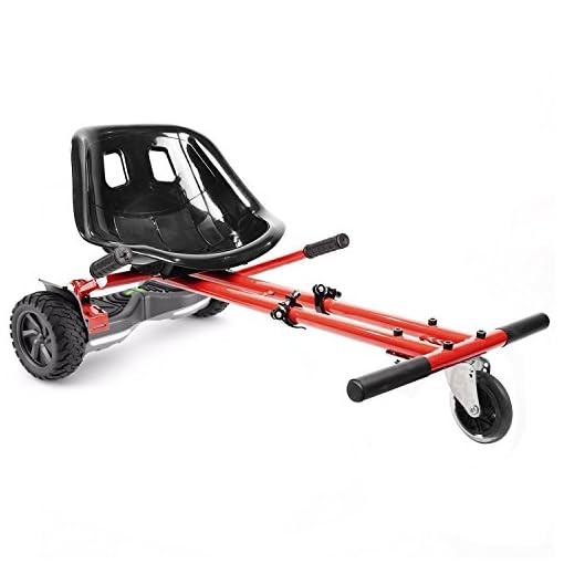 Ballino – Remorque pour gyroskate électrique Hoverbard pour faire un kart – Réglable – Pour hoverboard de 16,5, 20,3 et 25,4 cm – Pour adultes et enfants